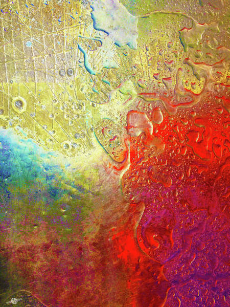 Mixed Media - Aqua Metallic Series Rainbow by Tony Rubino