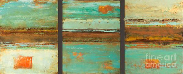 Painting - Aqua Plains by Kaata    Mrachek
