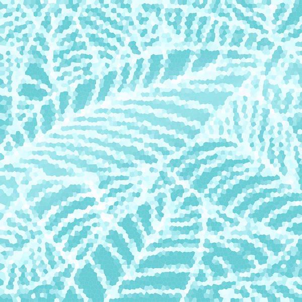Digital Art - Aqua Pool Leaves by Karen Dyson