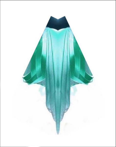 Digital Art - Aqua Robe by Mary Russell