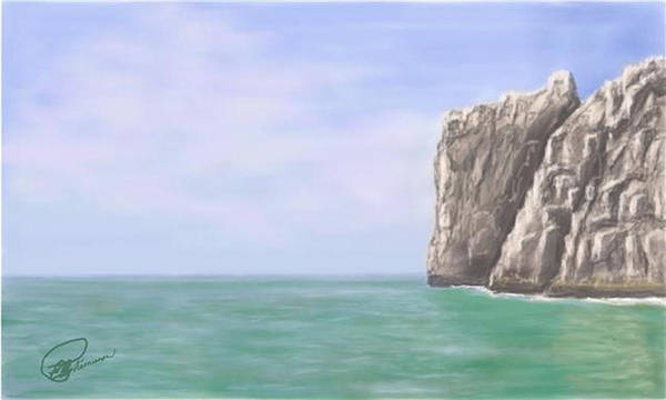 Painting - Aqua Sea by Elly Potamianos