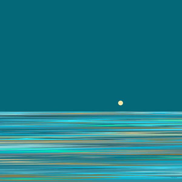 Digital Art - Aqua Sea by Val Arie
