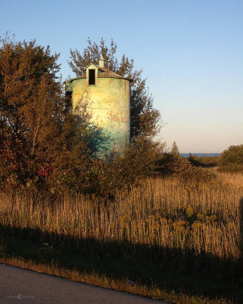 Photograph - Aqua Silo by Tim Nyberg