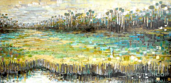 Painting - Aqua Strand by Kaata Mrachek
