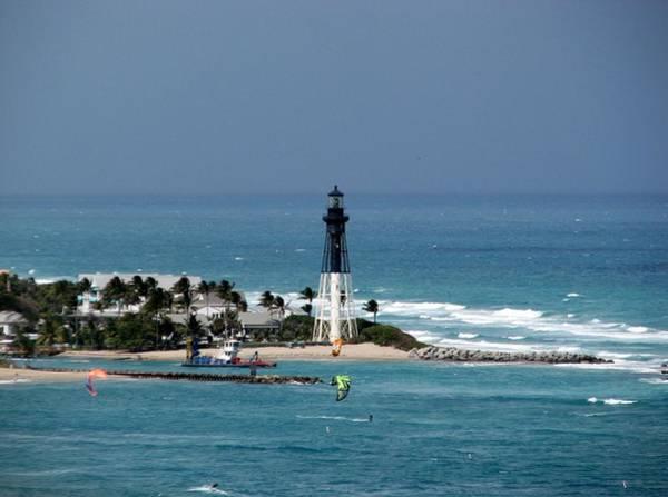 Aqua Water At Hillsboro Lighthouse In Florida Art Print