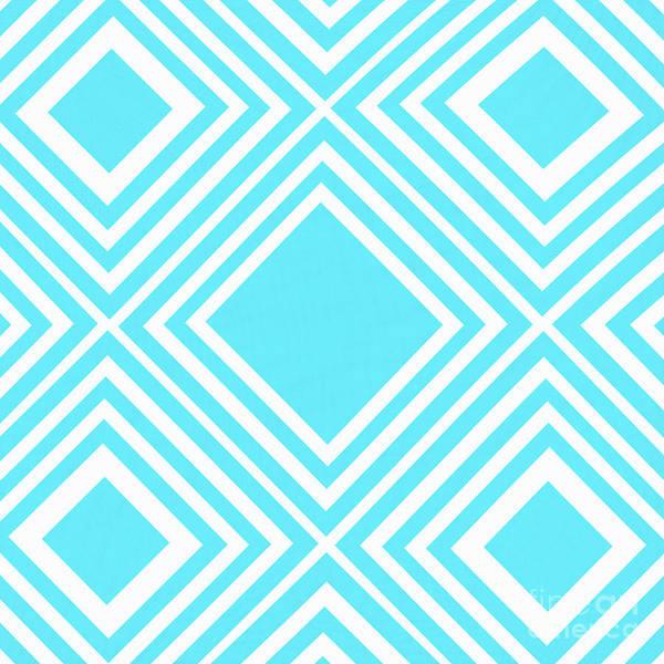 Wall Art - Photograph - Aqua White Pattern By Kaye Menner by Kaye Menner
