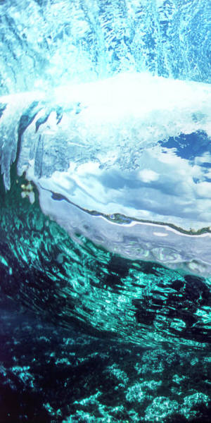 Wall Art - Photograph - Aqua Womb 2-3 Ratio Triptych - 1 Of 3 by Sean Davey