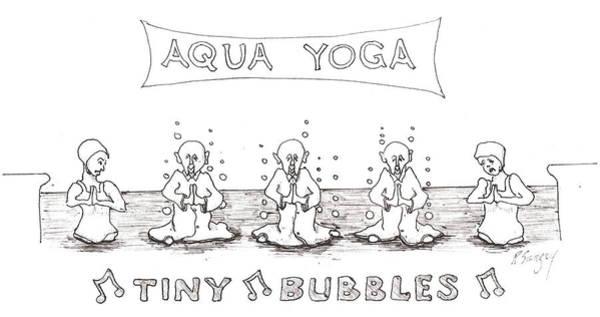 Aqua Yoga Art Print