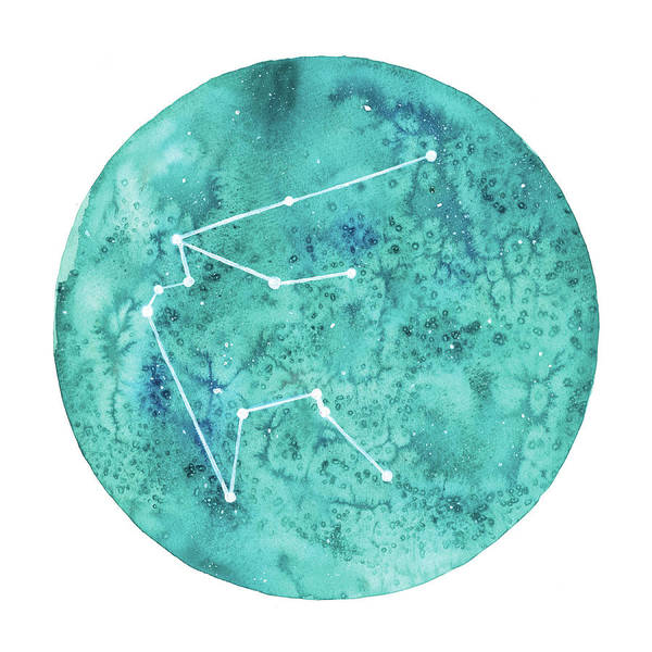 Zodiac Wall Art - Painting - Aquarius by Stephie Jones