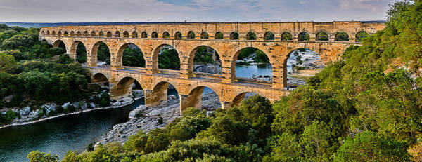 Photograph - Aqueduct Pont Du Gard by Thomas M Pikolin