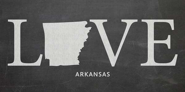 Arkansas Mixed Media - Ar Love by Nancy Ingersoll