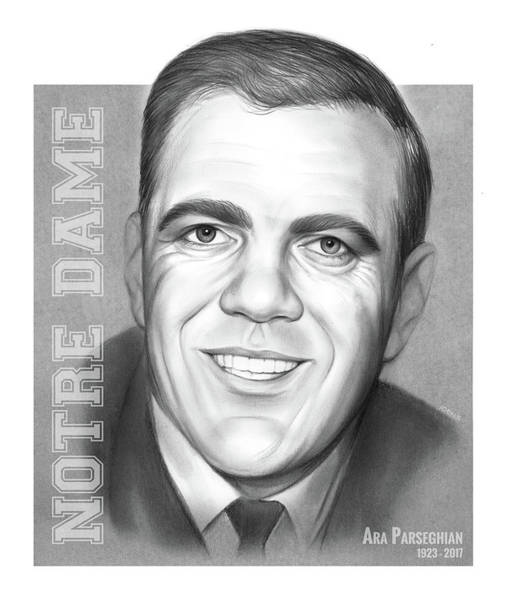 Wall Art - Drawing - Ara Parseghian by Greg Joens