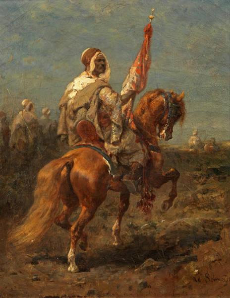 Wall Art - Painting - Arab Horsemen by Adolf Schreyer