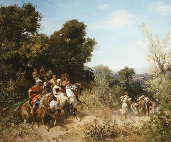Arab Horse Painting - Arab Horsemen by Georges Washington
