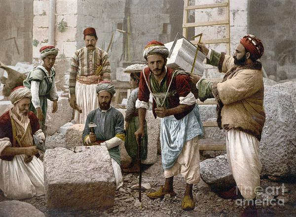 Photograph - Arab Stonemasons, C1900 - To License For Professional Use Visit Granger.com by Granger