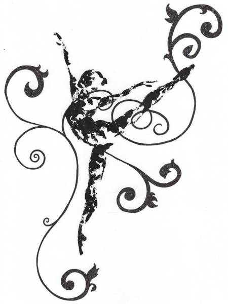 Drawing - Arabesque II by Emily Page