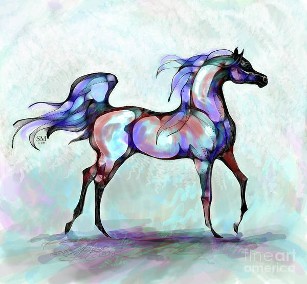 Digital Art - Arabian Horse Overlook by Stacey Mayer