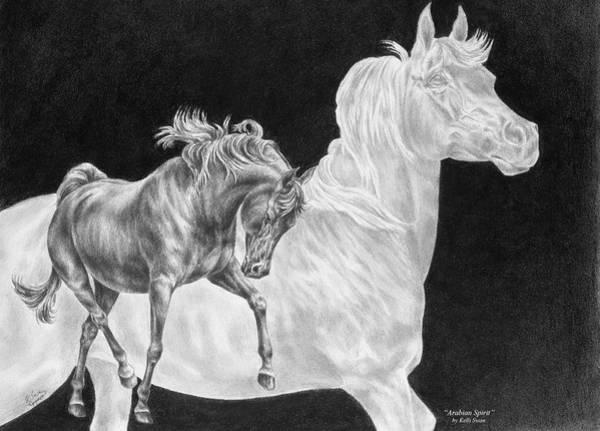 Drawing - Arabian Horse Spirit Print by Kelli Swan