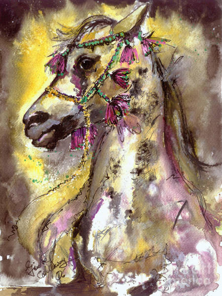 Painting - Arabian Stallion  by Ginette Callaway