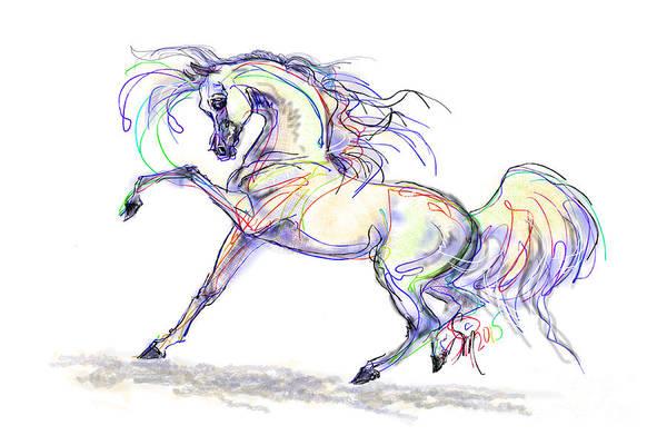 Arabian Stallion Talk Art Print