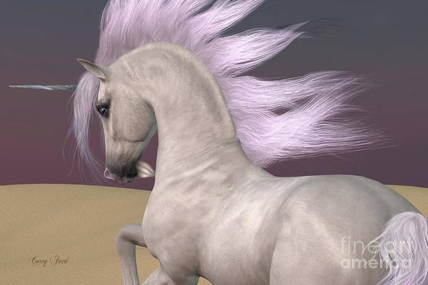 Unicorn Horn Digital Art - Arabian Unicorn Dreams by Corey Ford
