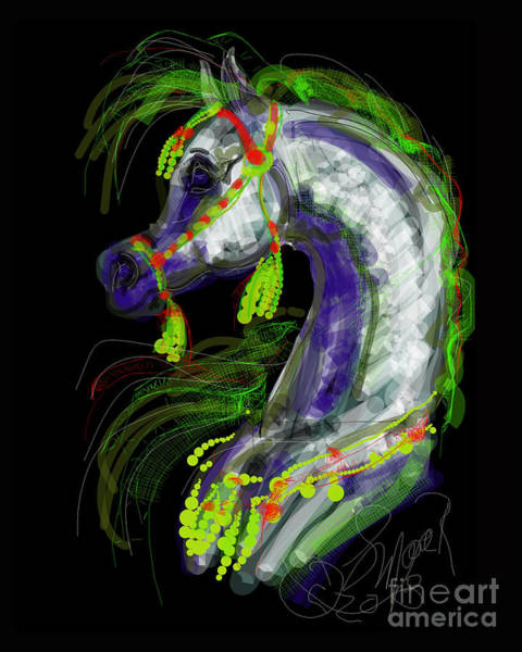 Digital Art - Arabian With Green Tassles by Stacey Mayer