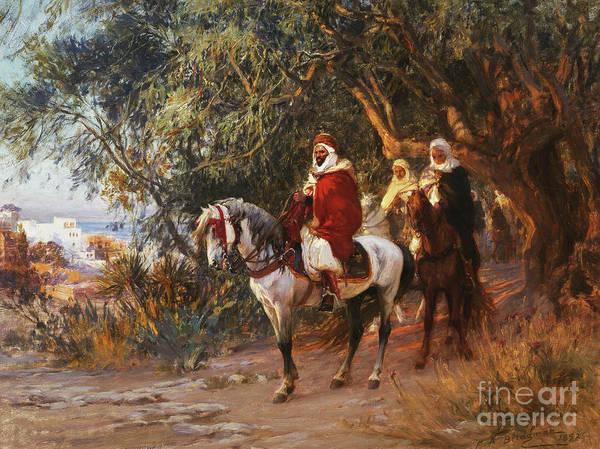 Wall Art - Painting - Arabs On Horseback by Frederick Arthur Bridgman