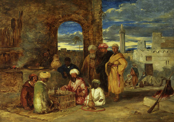 Wall Art - Painting - Arabs Playing Chess, 1843 by William James Muller