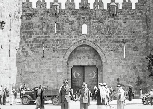 Damascus Photograph - Arabs Wearing Kafiyas In 1934 by Munir Alawi