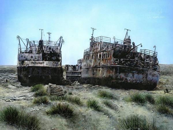 Shipwreck Digital Art - Aral by Andrea Gatti