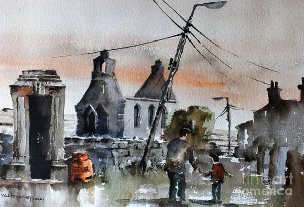 Painting - Aran Bygones by Val Byrne