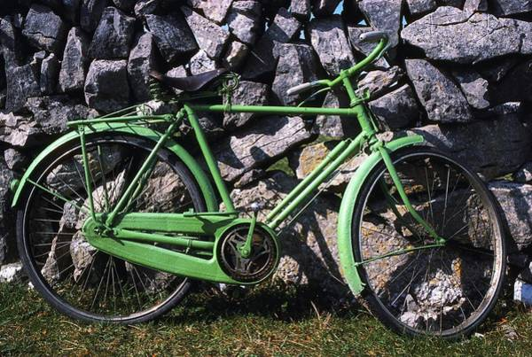 Horizontally Photograph - Aran Islands, Co Galway, Ireland Bicycle by The Irish Image Collection