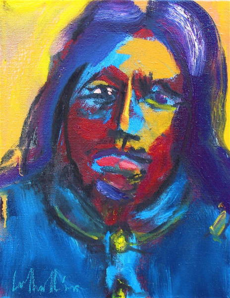 Painting - Arapaho Scout Sharp Nose by Les Leffingwell