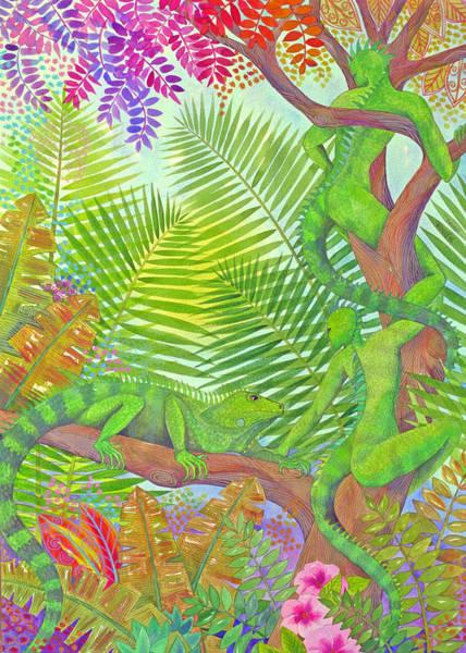 Wall Art - Painting - Arbai And Iguana by Jennifer Baird