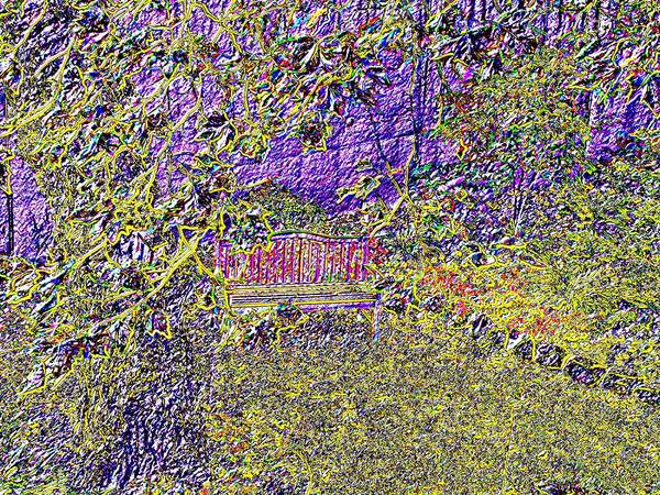 Granite Digital Art - Arbor Bench by Tim Allen