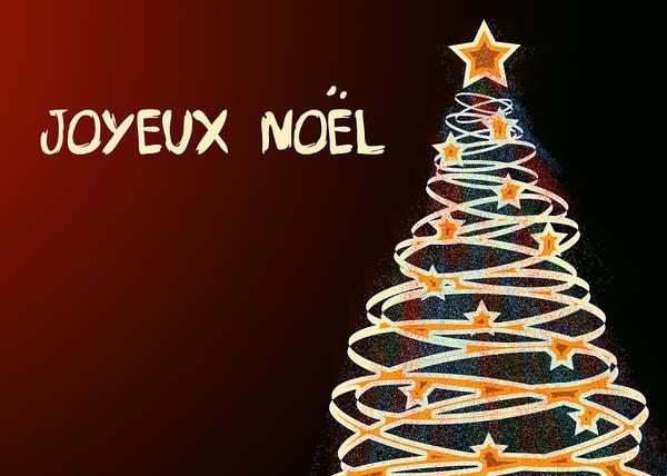 Xmas Digital Art - Arbre De Noel by Maggie Terlecki