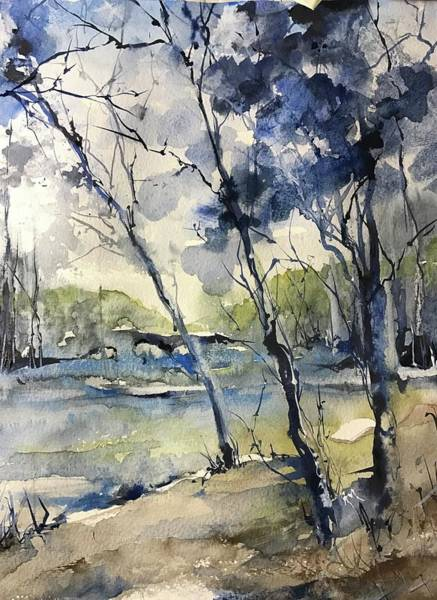 Painting - Arbres Bleus by Robin Miller-Bookhout