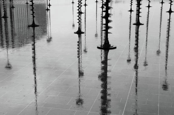 Arbres Lumineux In The Rain Paris  Art Print