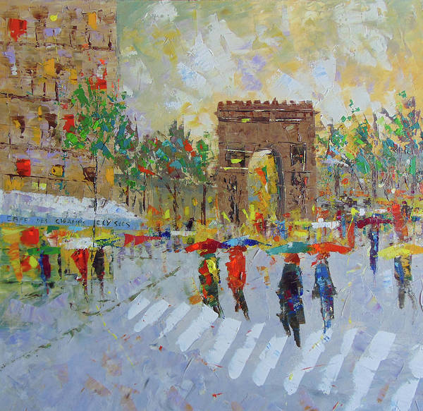 Painting - Arc De Triomphe by Frederic Payet