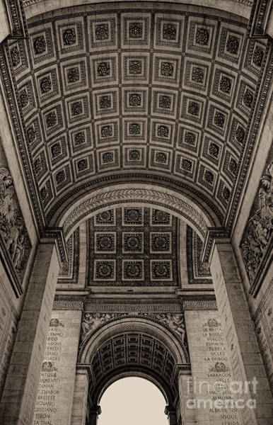 Arc De Triomphe Interior Art Print
