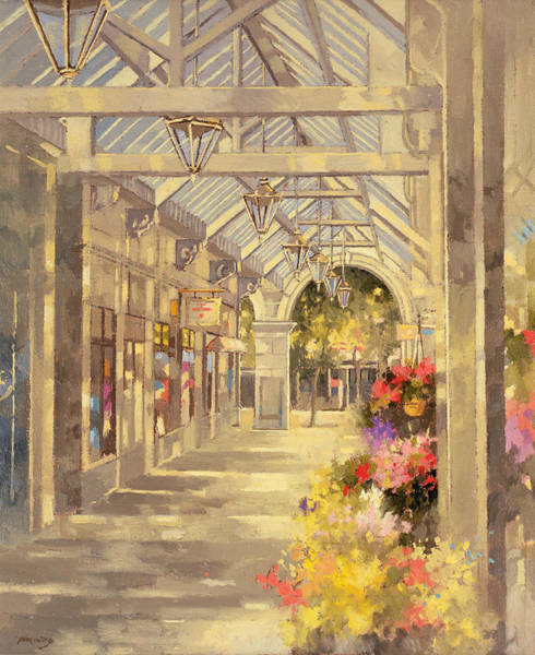 Mall Painting - Arcade by Peter Miller
