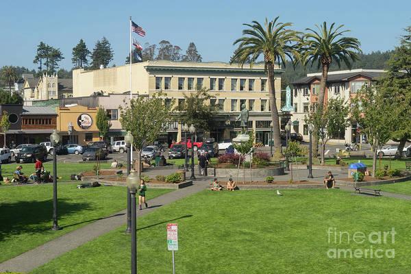 Photograph - Arcata Plaza Arcata California Dsc5396 by Wingsdomain Art and Photography