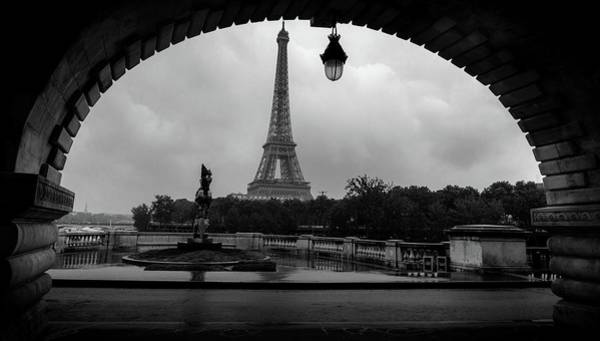 Photograph - Arch Of Eiffel Tower, France by Alexandre Rotenberg