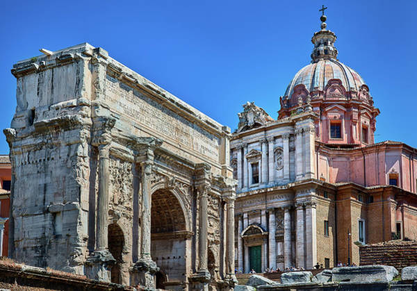 Photograph - Arch Of Septimius Severus At The Roman Forum by Fine Art Photography Prints By Eduardo Accorinti