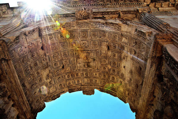 Photograph - Arch Of Titus by Harry Spitz