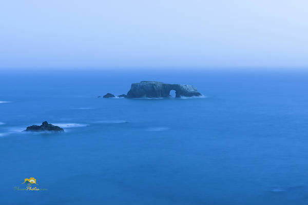 Photograph - Arch Rock After Dark by Jim Thompson