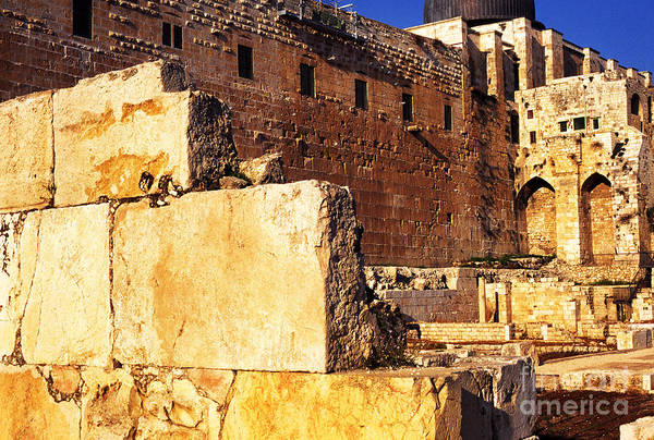 Jewish Homeland Photograph - Archaeological Garden Southern Temple Mount Jerusalem by Thomas R Fletcher