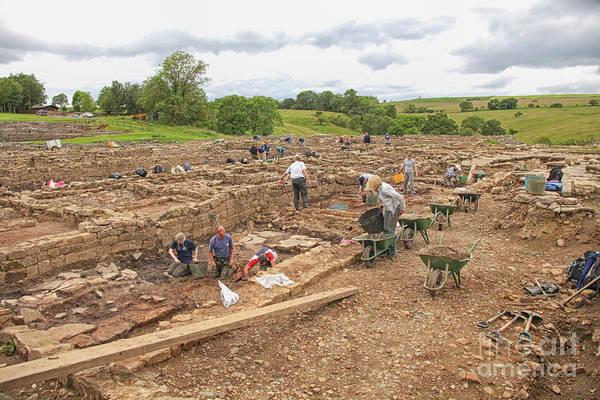 Roman Fort Photograph - Archaeologists At Work At Roman Vindolanda by Patricia Hofmeester