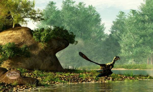 Digital Art - Archaeopteryx On Fishing Trip by Daniel Eskridge