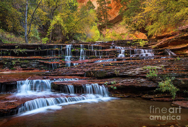 Wall Art - Photograph - Archangel Falls In Autumn by Jamie Pham